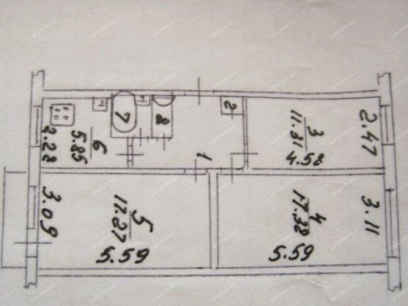 трёхкомнатная квартира на улице Комбрига Патоличева дом 17 город Дзержинск