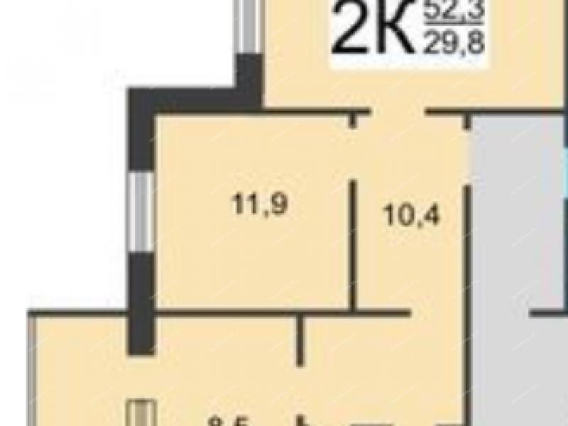двухкомнатная квартира на Красноуральской улице дом 1А