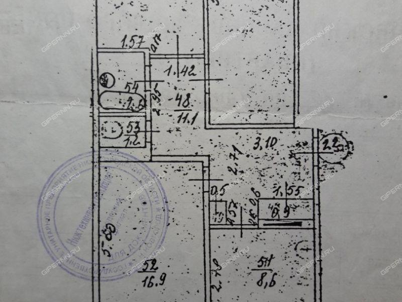 трёхкомнатная квартира на  дом 10 село Воронино